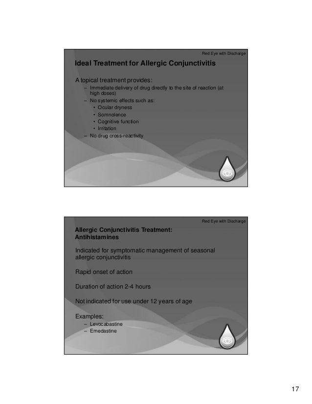 Allergic Conjunctivitis Treatment Management Approach