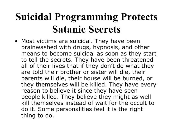 santanic ritual abuse Many experienced professionals who are working in the fields of child-abuse and sra would agree that the first signs of higher than normal incidents of.