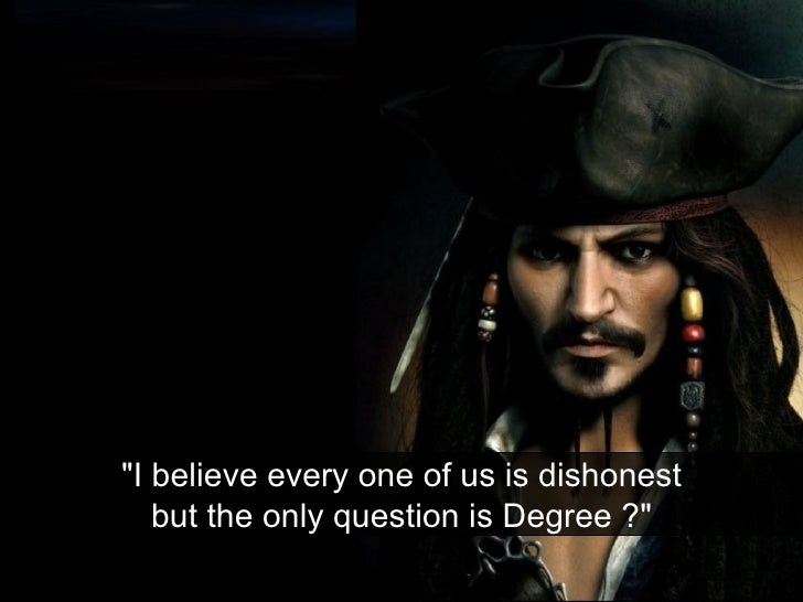 """""""I believe every one of us is dishonest but the only question is Degree ?"""""""