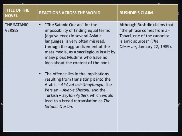 The Satanic Verses Summary - BookRags.com | Study Guides ...