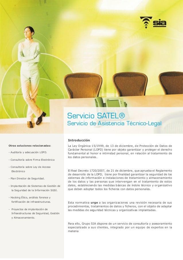 Introducción La Ley Orgánica 15/1999, de 13 de diciembre, de Protección de Datos de Carácter Personal (LOPD) tiene por obj...