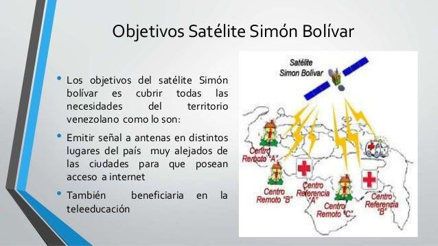 Objetivos Satélite Simón Bolívar • Los objetivos del satélite Simón bolívar es cubrir todas las necesidades del territorio...