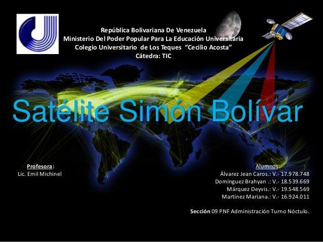 República Bolivariana De Venezuela                     Ministerio Del Poder Popular Para La Educación Universitaria       ...