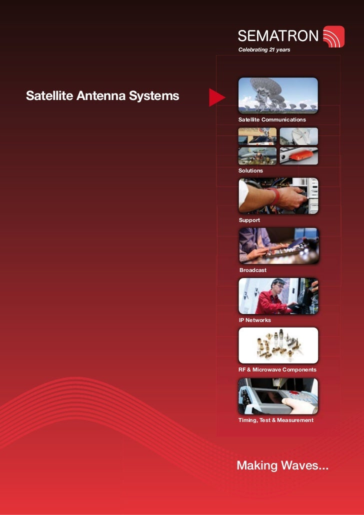 Celebrating 21 yearsSatellite Antenna Systems                            Satellite Communications                         ...