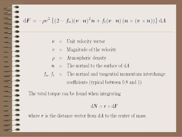 • where ke is a constant depending on the satellite's geometry (see table) and conductivity, B is the vector of the magnet...