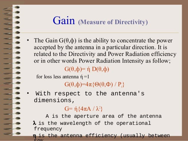 """Antenna Bandwidth •  •  •  •  The bandwidth of an antenna is defined as """"The range of frequencies within which the perform..."""