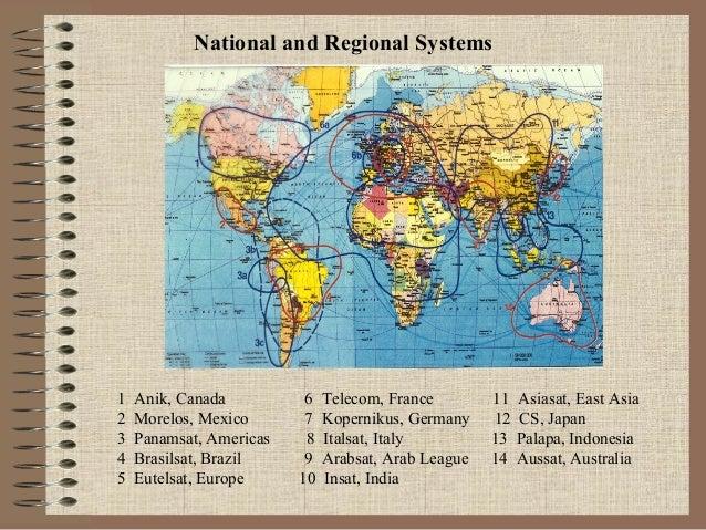 National and Regional Systems  1 2 3 4 5  Anik, Canada Morelos, Mexico Panamsat, Americas Brasilsat, Brazil Eutelsat, Euro...