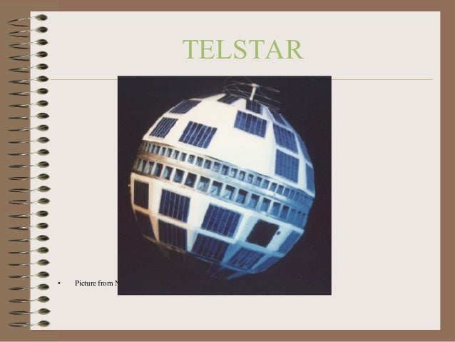 TELSTAR  •  Picture from NASA