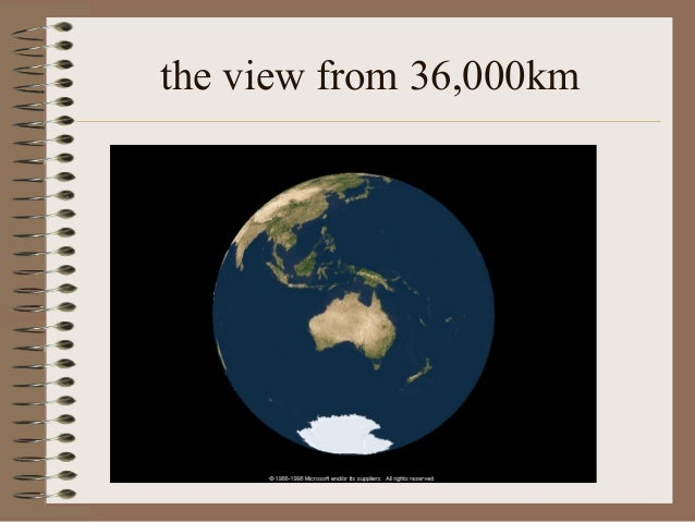 the view from 36,000km