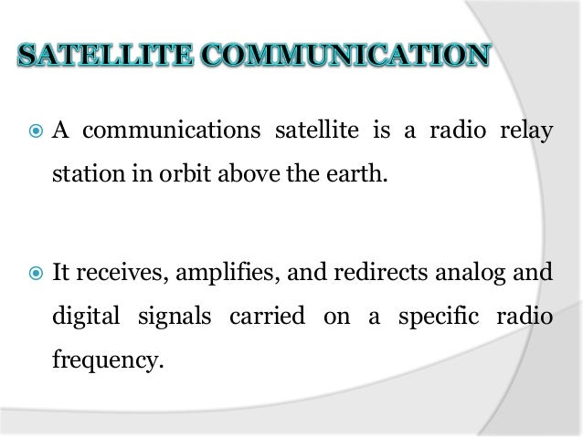 Satellite communication paper presentation