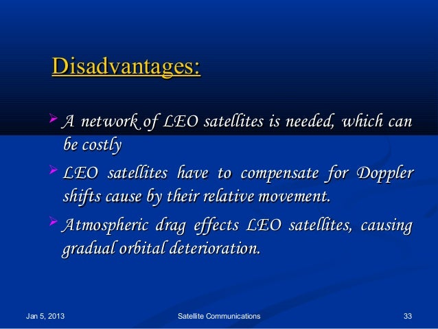 essay on satellite Various uses of satellite communications traditional telecommunications since the beginnings of the long distance telephone network, there has been a need to connect the.