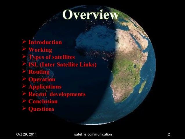 Satellite Communications Ppt - Recent satellite pictures