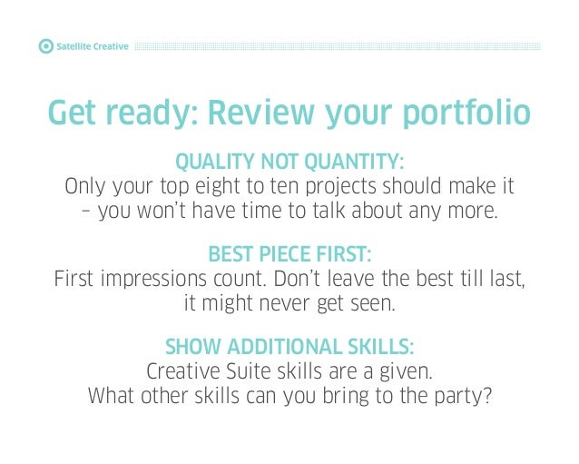 How to make a great first impression: For Graphic Design students Slide 2