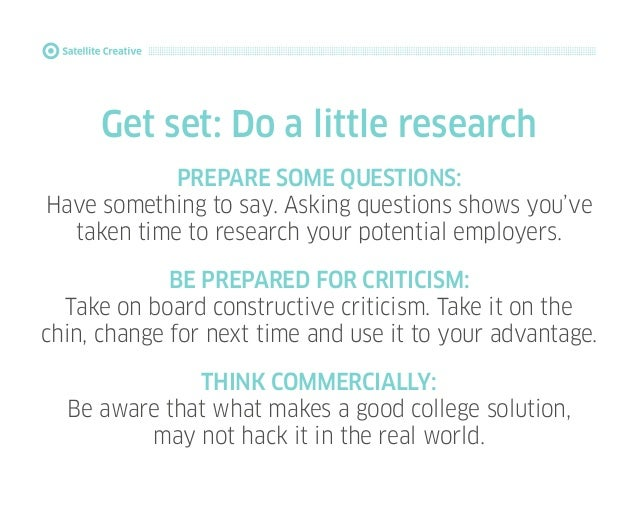 How to make a great first impression: For Graphic Design students Slide 3
