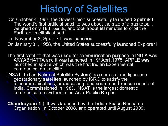 What is the use of artificial satellites?