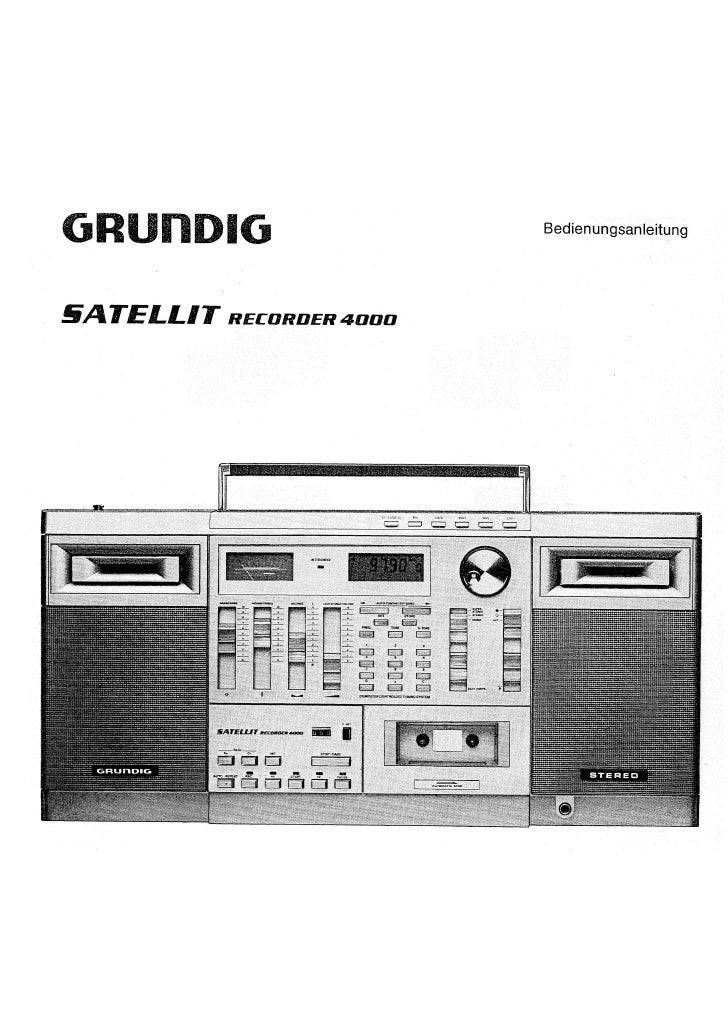Satellitrecorder4000 Om Grundig De
