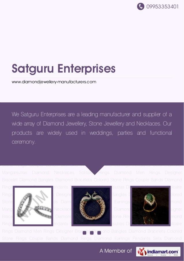 09953353401 A Member of Satguru Enterprises www.diamondjewellery-manufacturers.com Diamond Bangles Diamond Bracelets Color...