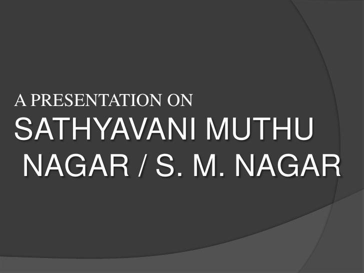 Madurai Slums - Sathyavanimuthu Nagar -2010