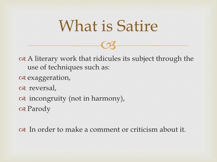 Satire essays examples