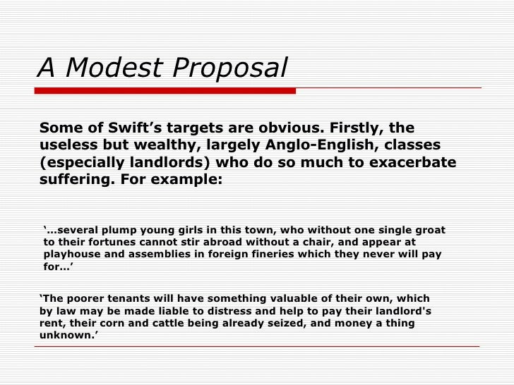 satire in the modest proposal