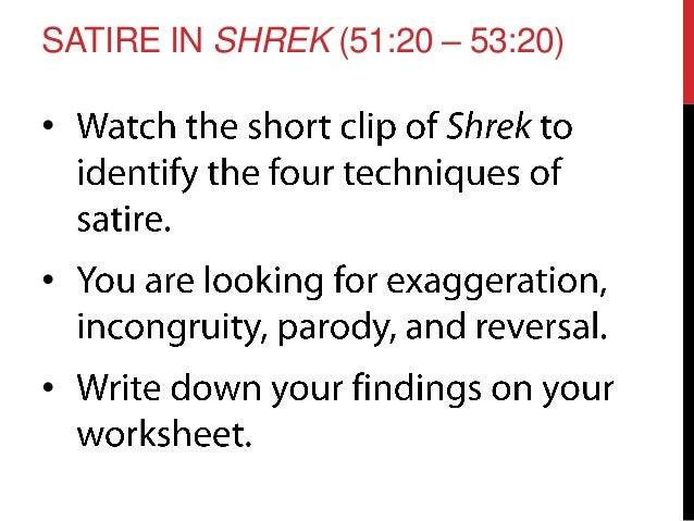 Irony Worksheet (Teaching with the movie Shrek) | Shrek, Literacy ...