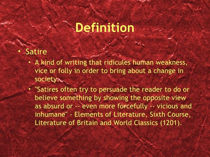 essay on satire in literature Fagstoff: a satire is a subtle and bold literary technique it can be a striking tool to   suggested topics for essay wrting use, evaluate and cite.