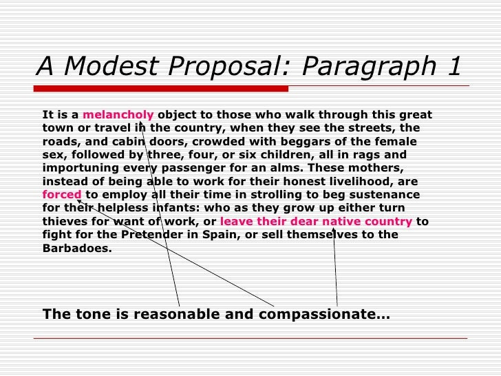 examples of satire in a modest proposal