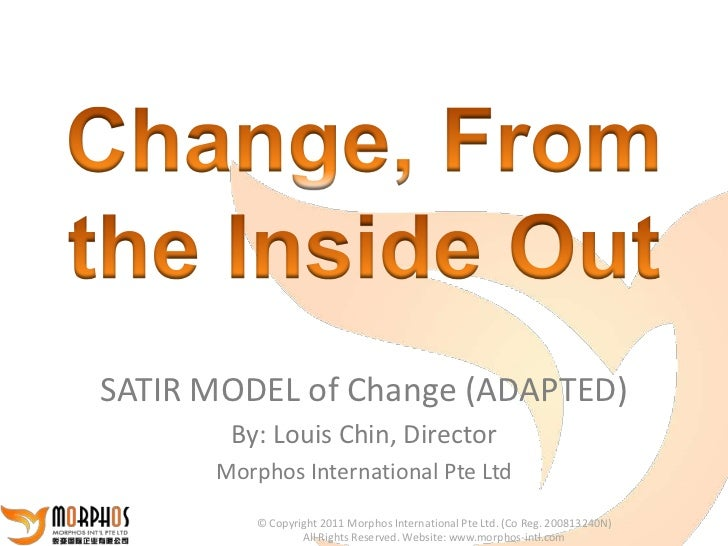 SATIR MODEL of Change (ADAPTED)       By: Louis Chin, Director      Morphos International Pte Ltd         © Copyright 2011...