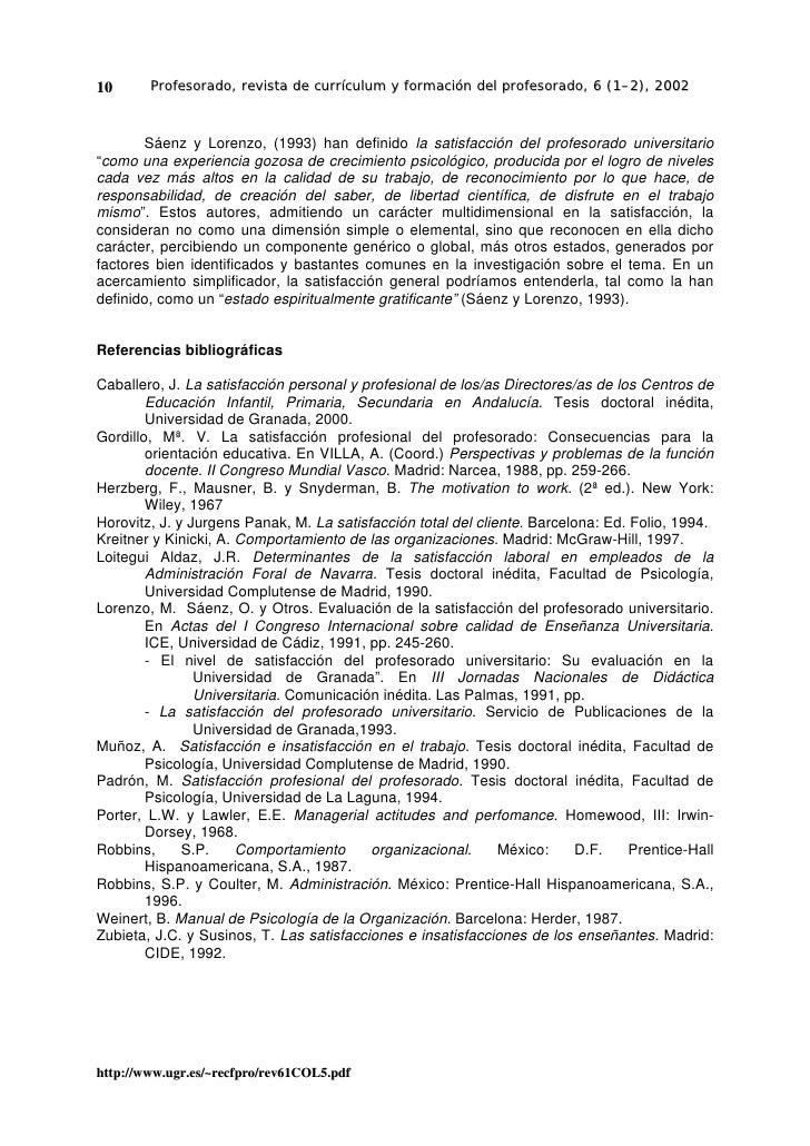 10      Profesorado, revista de currículum y formación del profesorado, 6 (1–2), 2002           Sáenz y Lorenzo, (1993) ha...
