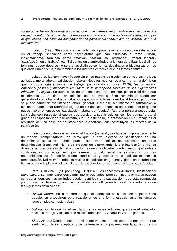 4       Profesorado, revista de currículum y formación del profesorado, 6 (1–2), 2002    sujeto por el hecho de realizar u...