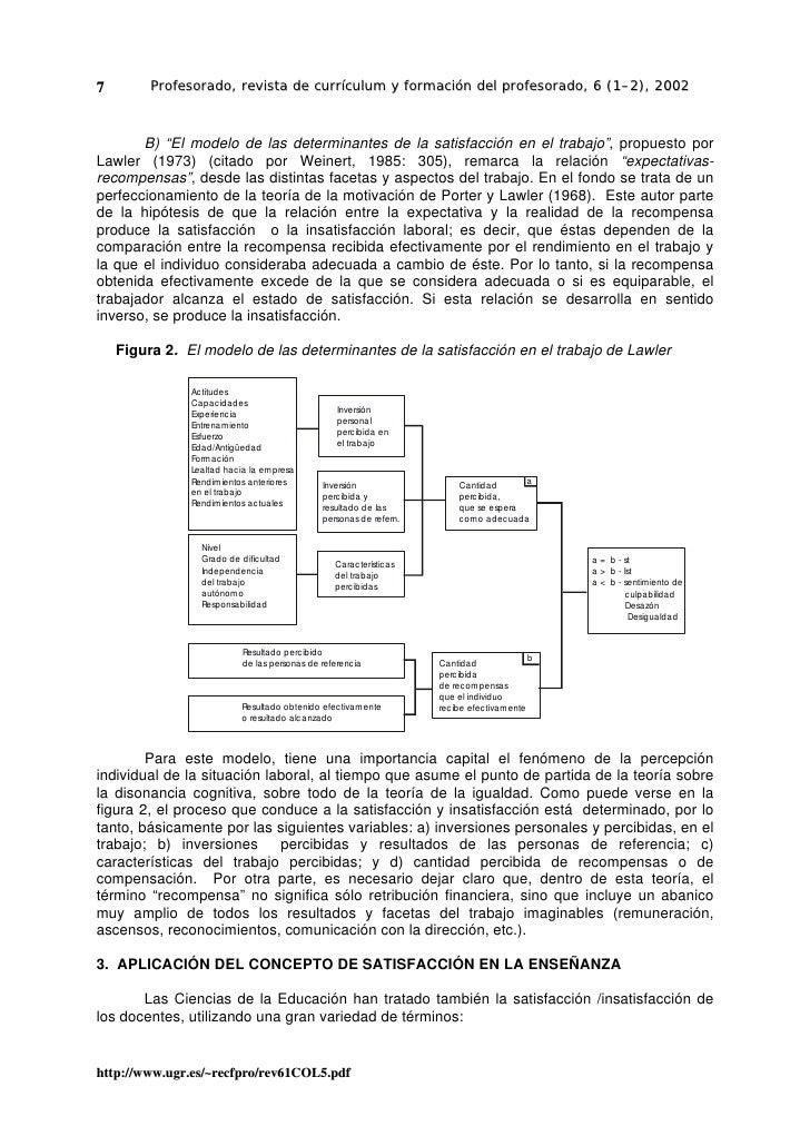 """7        Profesorado, revista de currículum y formación del profesorado, 6 (1–2), 2002           B) """"El modelo de las dete..."""