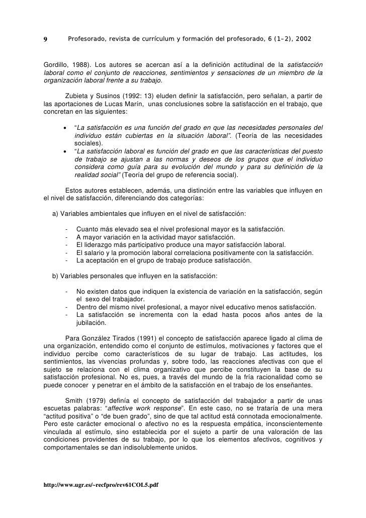 9           Profesorado, revista de currículum y formación del profesorado, 6 (1–2), 2002    Gordillo, 1988). Los autores ...