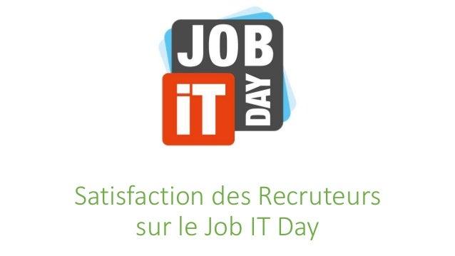 Satisfaction des Recruteurs  sur le Job IT Day