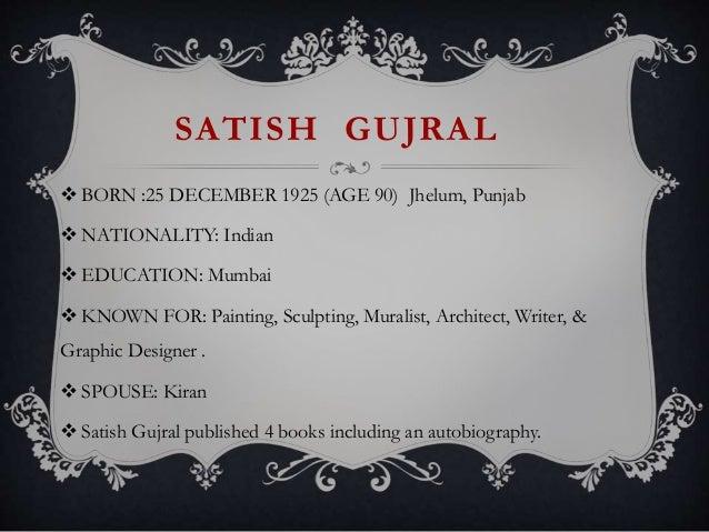Satish Gujral Essay Writing