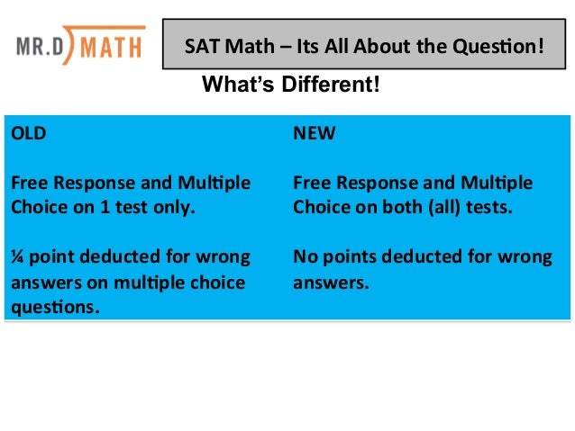 SAT Math: It's All About The Question Slide 2