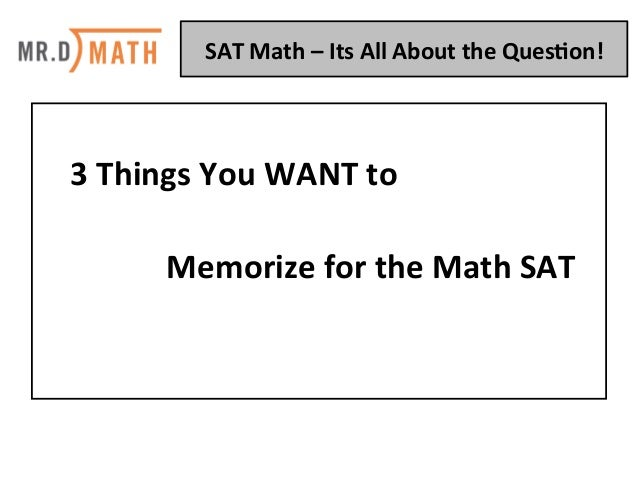 SAT Math: It's All About The Question Slide 3