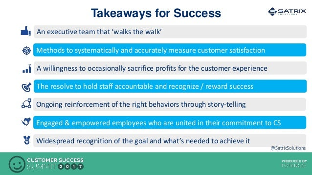 PRODUCED BYPRODUCED BY An executive team that 'walks the walk' Methods to systematically and accurately measure customer s...