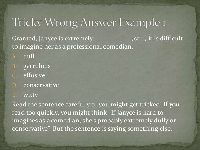SAT Sentence Completion Strategies