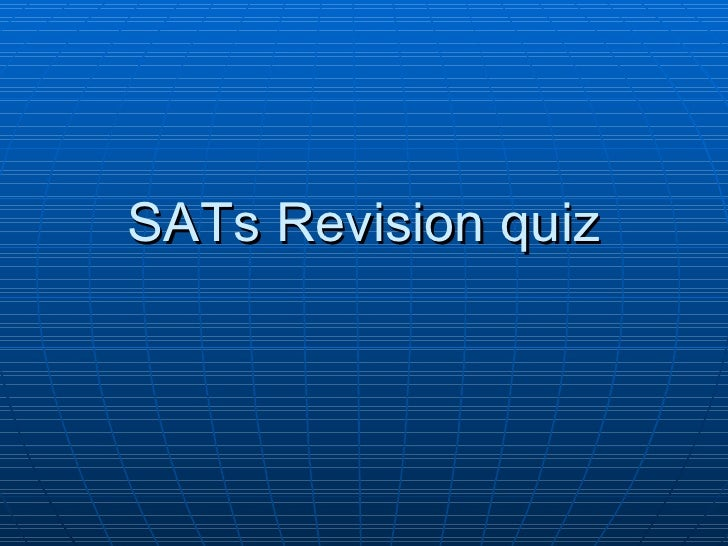 SATs Revision quiz