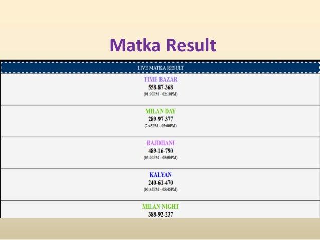 Best Satta Matka Game provides Indian matka result, matka ...