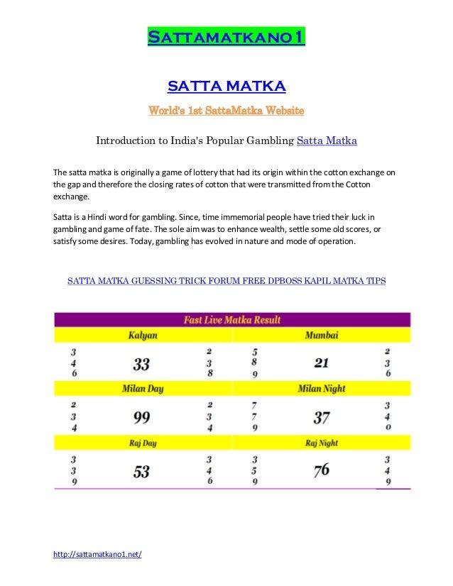Satta live no  SATTA KING 2018 2019 SATTAKING SATTA LIVE