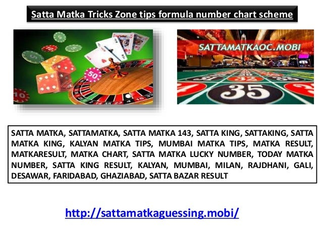 Satta matka tricks zone tips formula number chart scheme