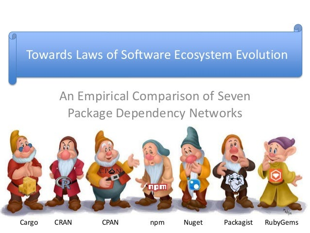 An Empirical Comparison of Seven Package Dependency Networks NugetnpmCargo CRAN CPAN Packagist RubyGems Towards Laws of So...
