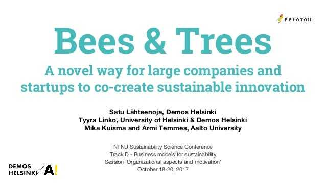 bees and trees a novel way for large companies and startups to co c