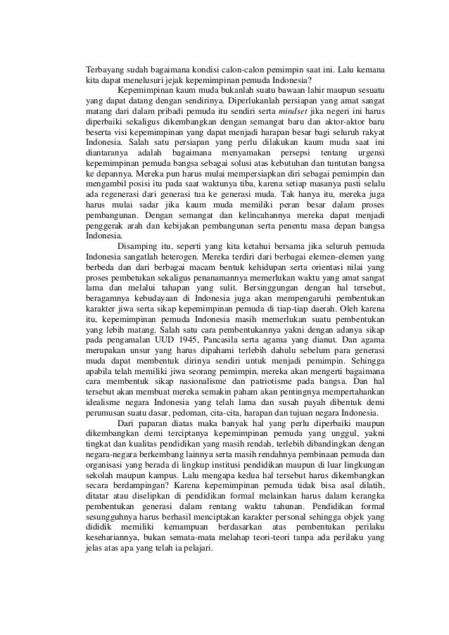 essay kritikan terhadap pemimpin bangsa dari aspek moralitas dan religiusitas