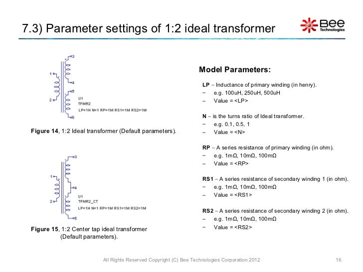 Simple Model of Transformer using LTspice