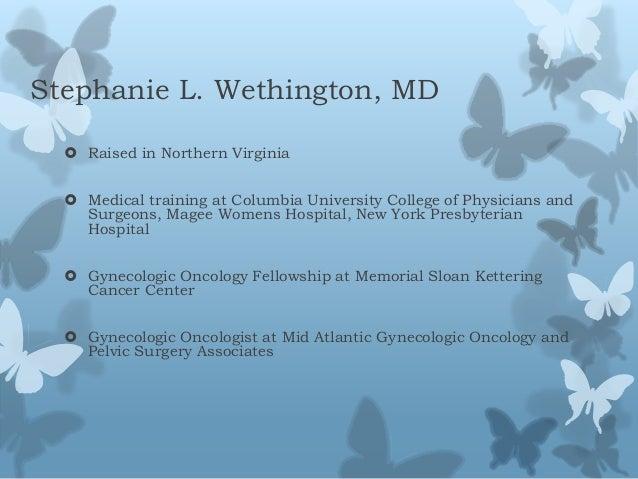 Newly Diagnosed, Stephanie Wethington, MD