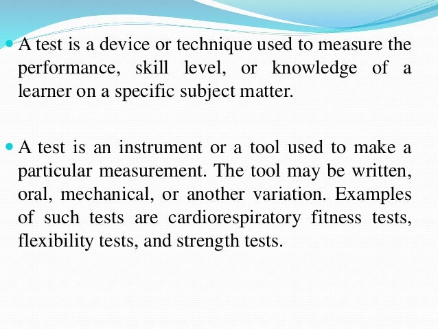 introduction to test measure and evaluation