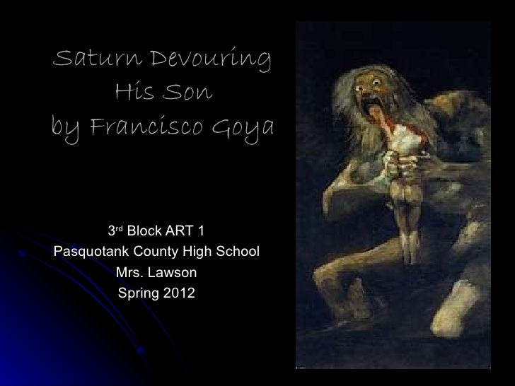 Romanticism goya and saturn devouring his