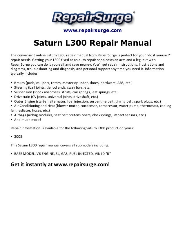 saturn l300 repair manual 2005 rh slideshare net saturn l300 repair manual pdf saturn l300 repair manual pdf